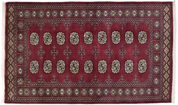 Pakistan Silk Touch 157x96 Handgeknüpft Teppich 100x160 Braun Geometrisch Muster