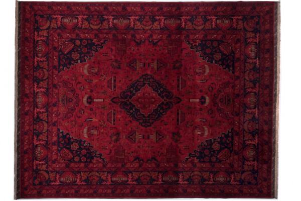 Afghan Belgique Khal Mohammadi 339x261 Handgeknüpft Teppich 260x340 Rot Geometrisch