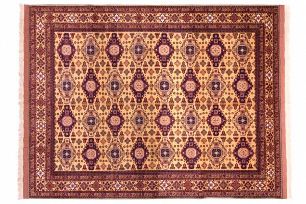 Afghan Mauri Kabul 272x211 Handgeknüpft Teppich 210x270 Rot Geometrisch Muster Kurzflor
