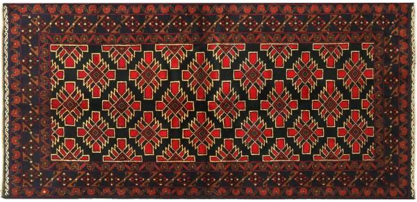 Afghan Belutsch Baluch 188x100 Handgeknüpft Orientteppich 100x190 Schwarz