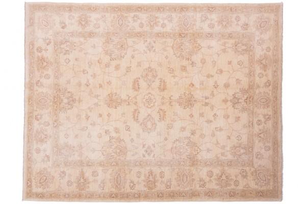 Afghan Chobi Ziegler 198x154 Handgeknüpft Teppich 150x200 Beige Orientalisch Kurzflor