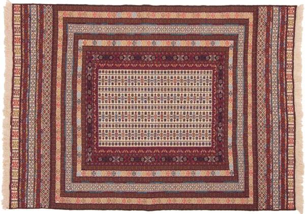 Afghan Mushwani Kelim 180x130 Handgewebt Teppich 130x180 Mehrfarbig Geometrisch Muster