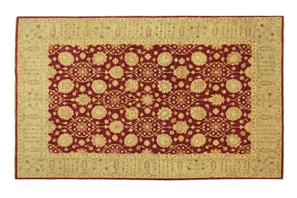 Afghan Chobi Ziegler 306x210 Handgeknüpft Teppich 210x310 Rot Floral Kurzflor Orient