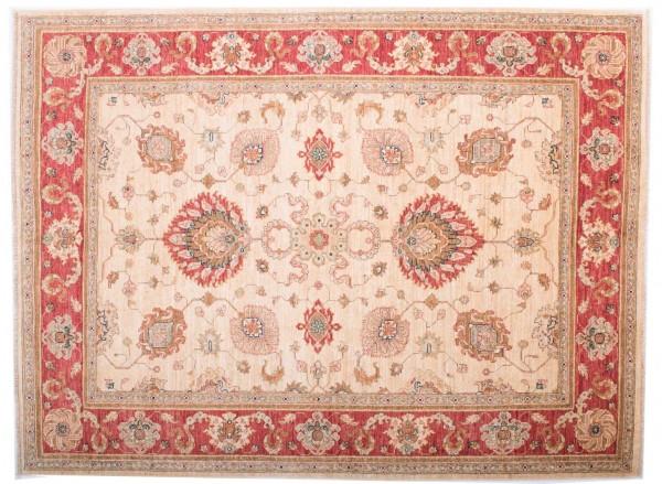 Afghan Chobi Ziegler Fein 199x150 Handgeknüpft Teppich 150x200 Beige Blumenmuster