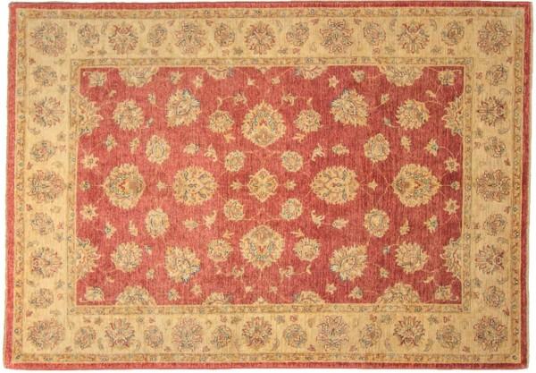 Afghan Chobi Ziegler 249x176 Handgeknüpft Teppich 180x250 Rot Orientalisch Kurzflor