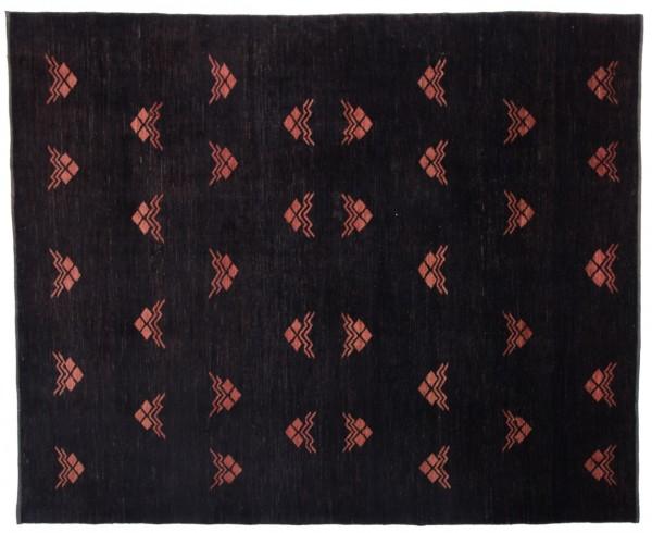 Afghan Chobi Ziegler 267x220 Handgeknüpft Teppich 220x270 Schwarz Geometrisch Muster
