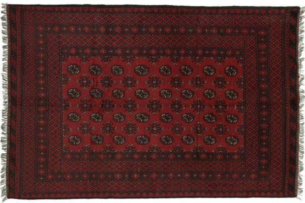 Afghan Aqcha 235x158 Handgeknüpft Teppich 160x240 Braun Geometrisch Muster Kurzflor