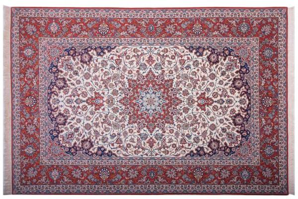 Perser Isfahan 301x205 Handgeknüpft Teppich 210x300 Mehrfarbig Orientalisch Kurzflor
