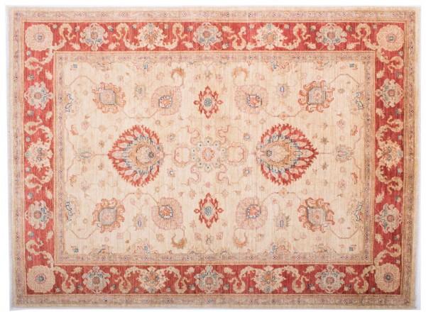 Afghan Chobi Ziegler Fein 201x148 Handgeknüpft Teppich 150x200 Rot Blumenmuster