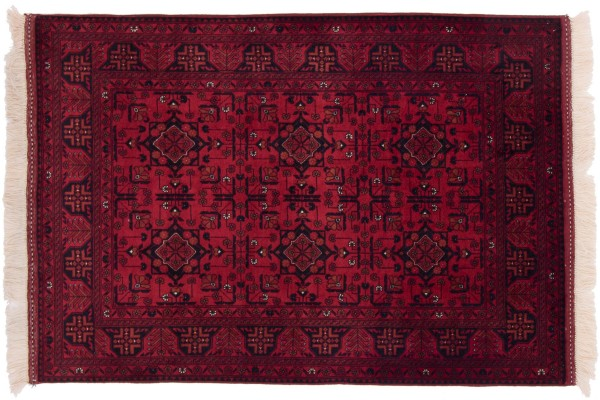 Afghan Belgique Khal Mohammadi 149x104 Handgeknüpft Teppich 100x150 Braun Geometrisch