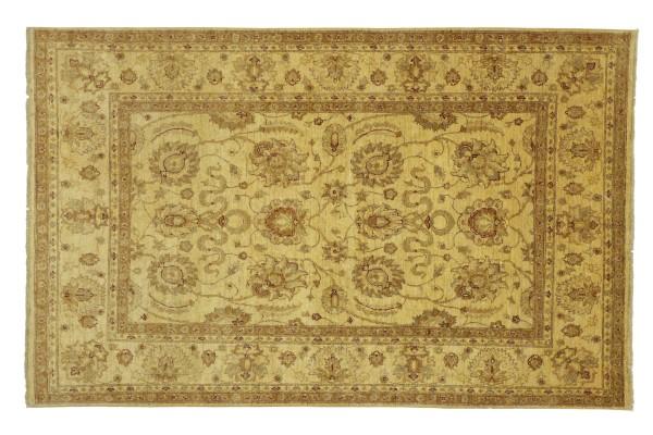 Afghan Chobi Ziegler 236x167 Handgeknüpft Teppich 170x240 Beige Floral Kurzflor Orient