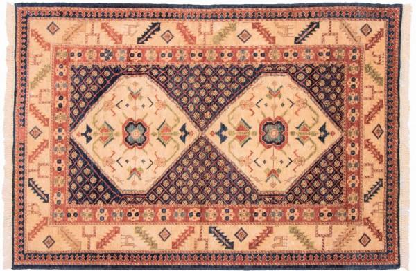 Afghan Chobi Ziegler 153x104 Handgeknüpft Teppich 100x150 Beige Orientalisch Kurzflor