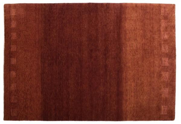 Loribaft Silk Touch 203x138 Handgeknüpft Teppich 140x200 Braun Orientalisch Kurzflor