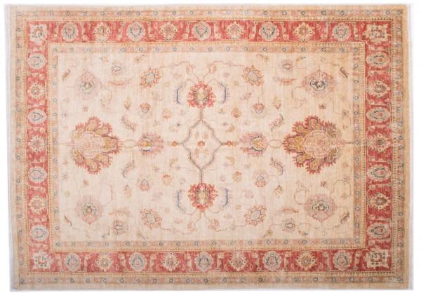 Afghan Chobi Ziegler Fein 197x142 Handgeknüpft Teppich 140x200 Beige Blumenmuster