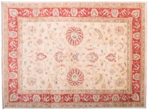 Afghan Chobi Ziegler Fein 202x152 Handgeknüpft Teppich 150x200 Beige Blumenmuster