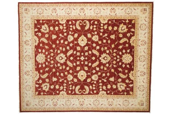 Afghan Chobi Ziegler 301x250 Handgeknüpft Teppich 250x300 Rot Orientalisch Kurzflor