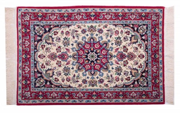 Perser Isfahan 105x71 Handgeknüpft Teppich 70x110 Mehrfarbig Orientalisch Kurzflor