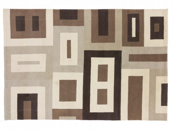 Nepal 297x202 Handgeknüpft Teppich 200x300 Beige Geometrisch Muster Kurzflor Orient Rug