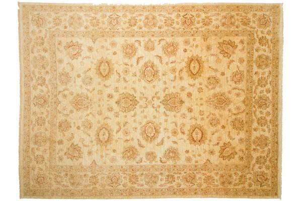 Afghan Chobi Ziegler 308x237 Handgeknüpft Teppich 240x310 Beige Orientalisch Kurzflor
