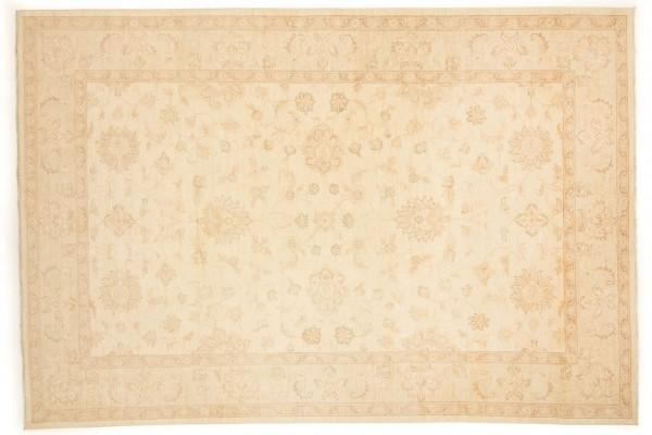 Afghan Chobi Ziegler 301x205 Handgeknüpft Teppich 210x300 Beige Orientalisch Kurzflor