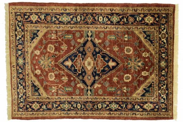 Afghan Chobi Ziegler 170x118 Handgeknüpft Teppich 120x170 Rot Orientalisch Kurzflor