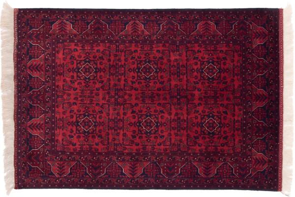 Afghan Belgique Khal Mohammadi 150x101 Handgeknüpft Teppich 100x150 Braun Geometrisch
