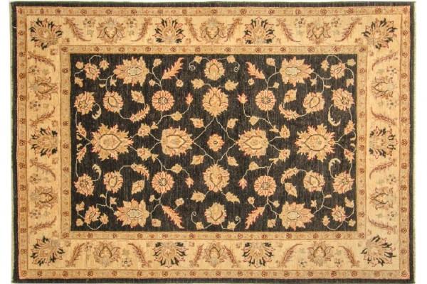 Afghan Chobi Ziegler 245x170 Handgeknüpft Teppich 170x250 Beige Blumenmuster Kurzflor