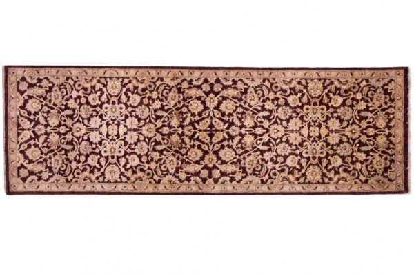 Afghan Chobi Ziegler Fein 245x79 Handgeknüpft Teppich 80x250 Läufer Beige Blumenmuster