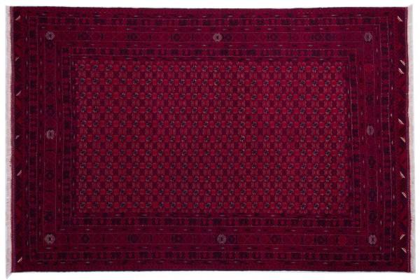 Afghan Orientteppich 293x197 Handgeknüpft Teppich 200x290 Rot Geometrisch Muster