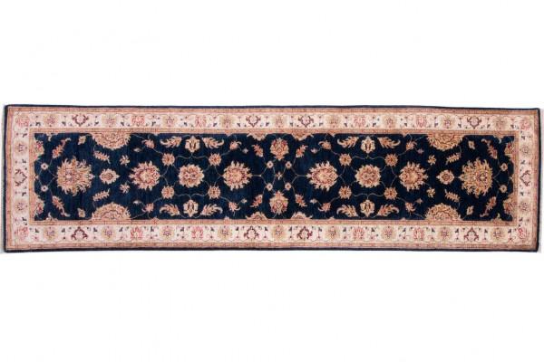 Afghan Chobi Ziegler 298x81 Handgeknüpft Teppich 80x300 Läufer Beige Orientalisch