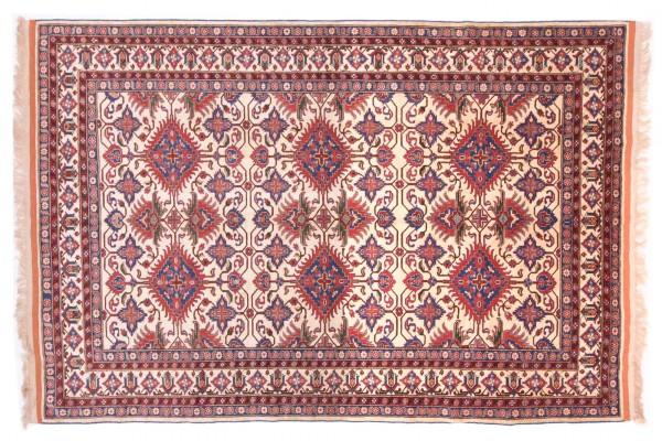 Afghan Mauri Kabul 291x200 Handgeknüpft Teppich 200x290 Beige Geometrisch Muster