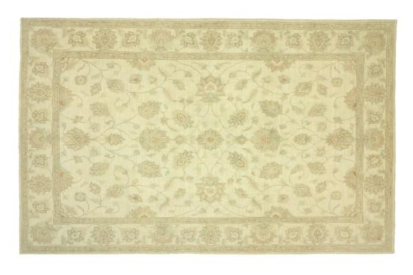 Afghan Chobi Ziegler 294x208 Handgeknüpft Teppich 210x290 Beige Floral Kurzflor Orient