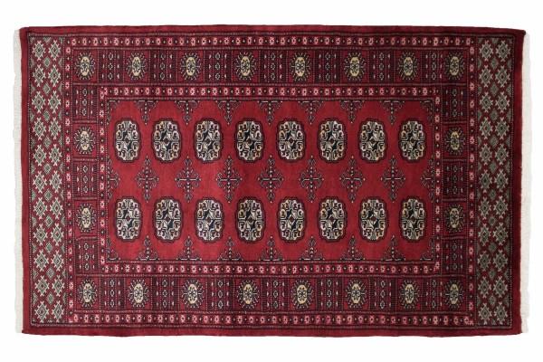 Pakistan Silk Touch 152x94 Handgeknüpft Teppich 90x150 Rot Orientalisch Kurzflor Orient