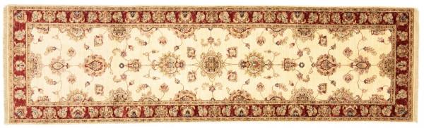 Afghan Chobi Ziegler 294x85 Handgeknüpft Teppich 90x290 Läufer Beige Blumenmuster