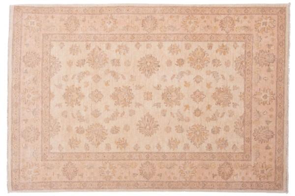 Afghan Chobi Ziegler 176x121 Handgeknüpft Teppich 120x180 Beige Orientalisch Kurzflor