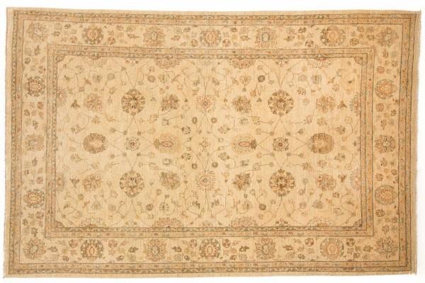Afghan Chobi Ziegler 316x206 Handgeknüpft Teppich 210x320 Beige Orientalisch Kurzflor