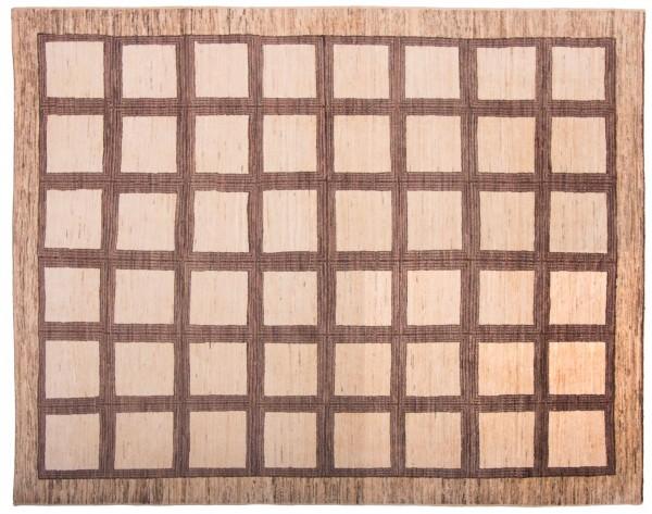 Afghan Modern Chobi Ziegler 245x192 Handgeknüpft Teppich 190x250 Beige Geometrisch
