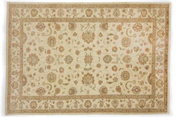 Afghan Chobi Ziegler 295x203 Handgeknüpft Teppich 200x300 Beige Orientalisch Kurzflor