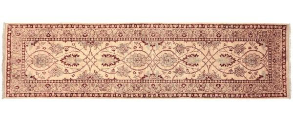 Afghan Chobi Ziegler 289x86 Handgeknüpft Teppich 90x290 Läufer Beige Orientalisch