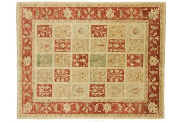 Afghan Chobi Ziegler 187x150 Handgeknüpft Teppich 150x190 Beige Geometrisch Muster