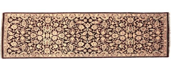 Afghan Chobi Ziegler 243x78 Handgeknüpft Teppich 80x240 Läufer Beige Orientalisch