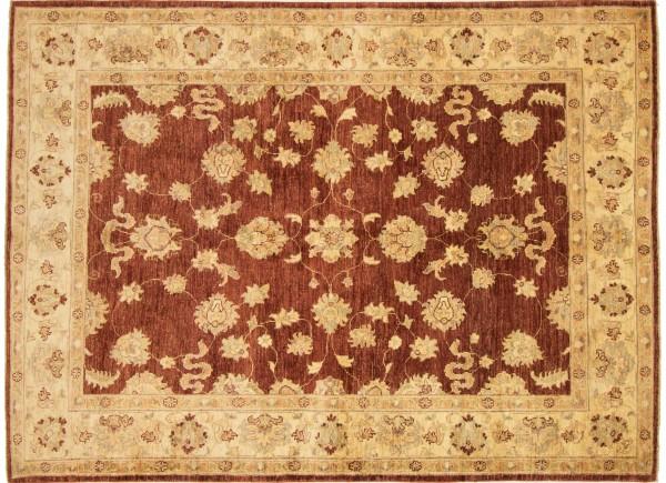 Afghan Chobi Ziegler 199x150 Handgeknüpft Teppich 150x200 Rot Orientalisch Kurzflor