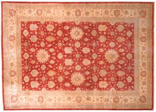 Afghan Chobi Ziegler Fein 345x248 Handgeknüpft Teppich 250x350 Beige Blumenmuster