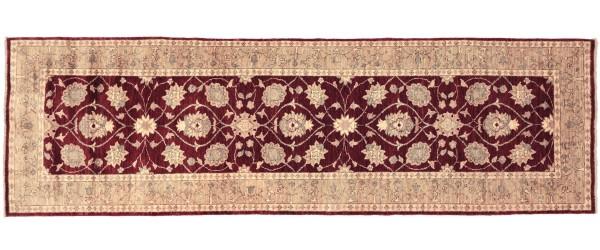 Afghan Chobi Ziegler 266x89 Handgeknüpft Teppich 90x270 Läufer Rot Orientalisch