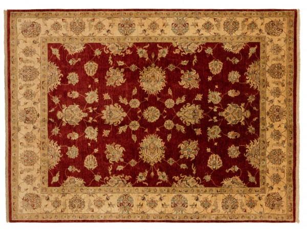 Afghan Chobi Ziegler 248x209 Handgeknüpft Teppich 210x250 Rot Blumenmuster Kurzflor