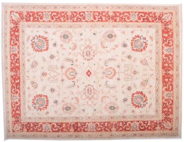 Afghan Chobi Ziegler Fein 199x152 Handgeknüpft Teppich 150x200 Beige Blumenmuster