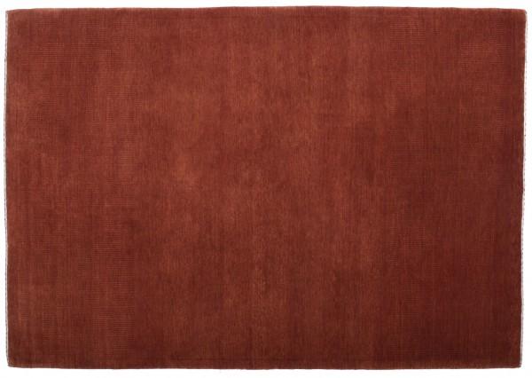 Loribaft 200x148 Handgeknüpft Teppich 150x200 Rot Einfarbig Kurzflor Orient Rug