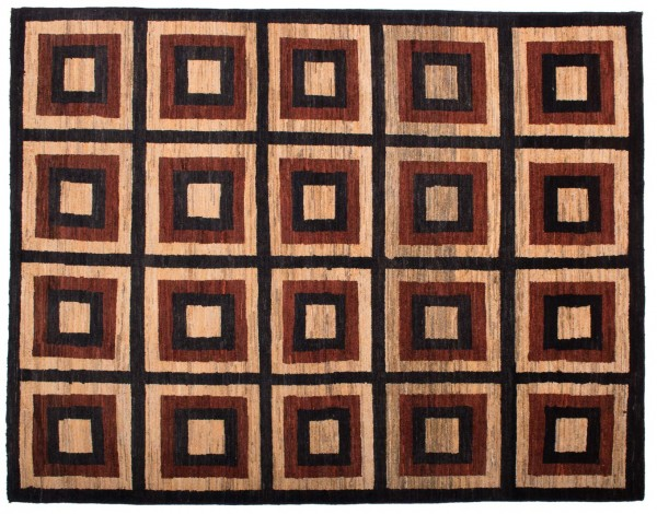 Afghan Modern Chobi Ziegler 190x149 Handgeknüpft Teppich 150x190 Mehrfarbig Geometrisch