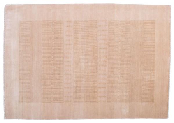 Loribaft Silk Touch 179x120 Handgeknüpft Teppich 120x180 Beige Geometrisch Muster