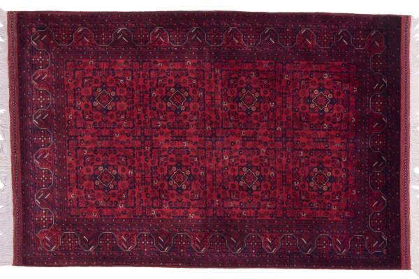 Afghan Belgique Khal Mohammadi 155x103 Handgeknüpft Teppich 100x160 Braun Geometrisch